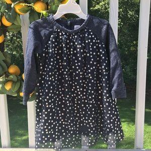 Gap-girl long sleeves shimmer and stars dress-3 y